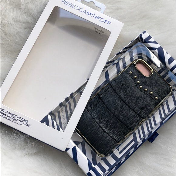 NWT Rebecca Minkoff leather iPhone case